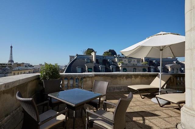 Отель с видом на Триумфальную арку и Эйфелеву башню
