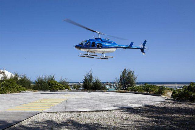 Остров Херон, вертолетная площадка