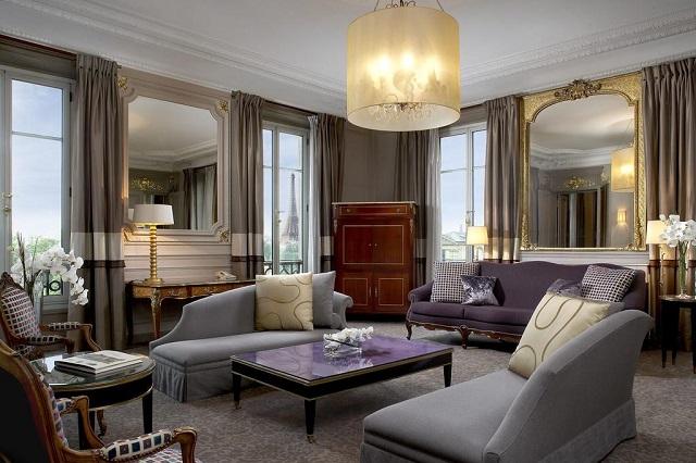 отель с видом на сад Тюильри и Эйфелеву башню в Париже