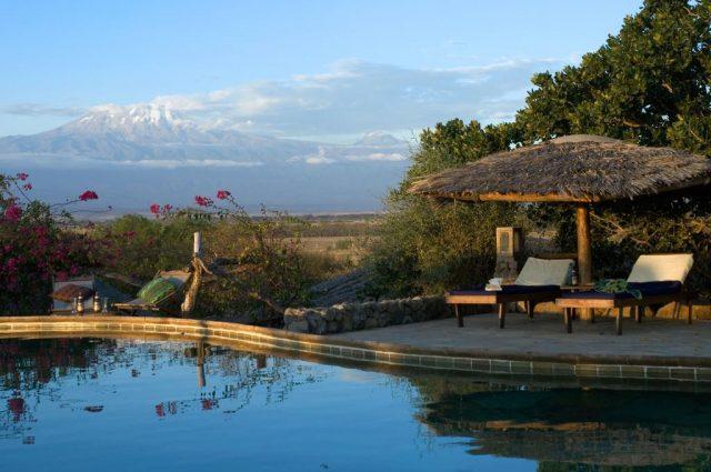 KIA-Lodge великолепный вид на гору Килиманджаро