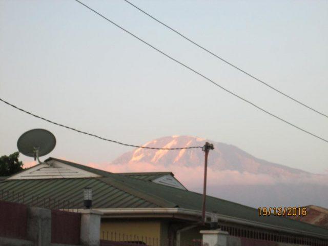 Kibo-Home-Bed-&-Breakfast вид на гору