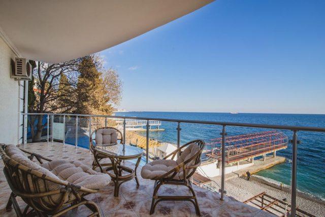 Korall-Hotel вид на море с балкона в ялте
