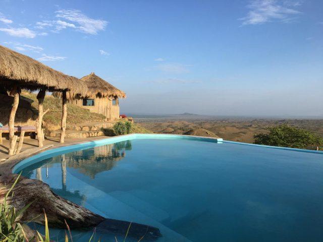 Maasai-Lodge-Tanzania вид на дикую природу из отеля