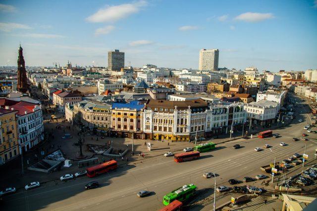 gostinica-tatarstan вид из окна на Казань