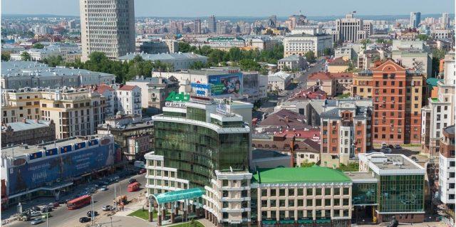 grand-otel-kazan вид из окна отеля на Казань