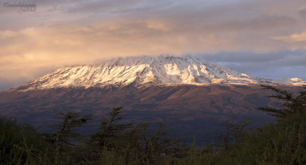 вид на гору Килиманджаро в Танзании