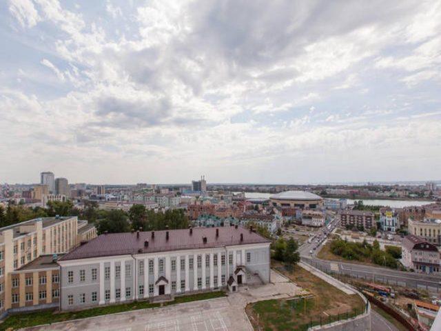 lyuks-apartamenty-bliss-v-centre красивый вид из окна на Казань