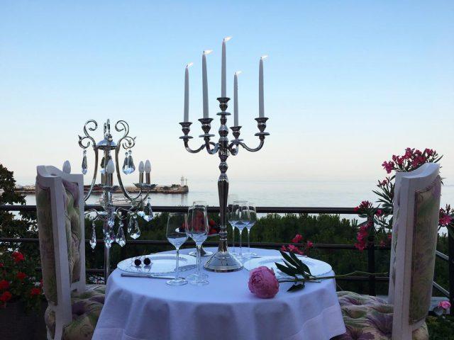 villa-sofiya вид из ресторана на море в Ялте