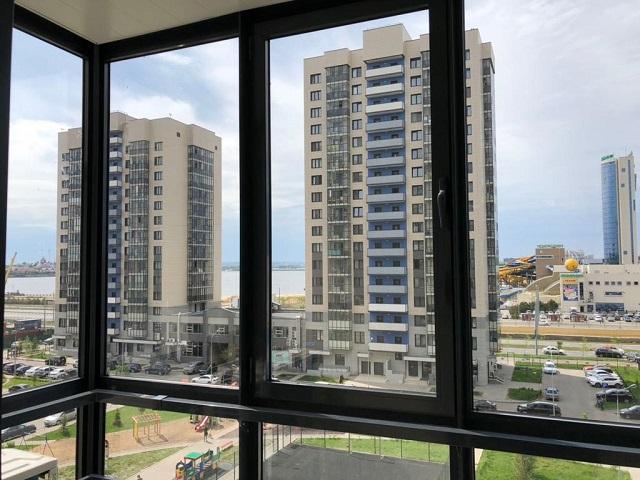 апартаменты в Казани с видом на аквапарк Ривьера