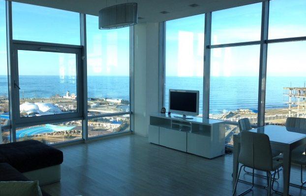 панорамный вид на море из номера отеля Aquamarine Resort & SPA