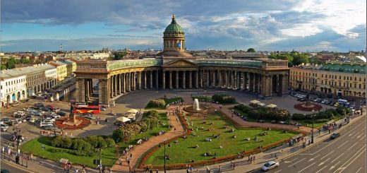 Красивый вид а Санкт-Петербург