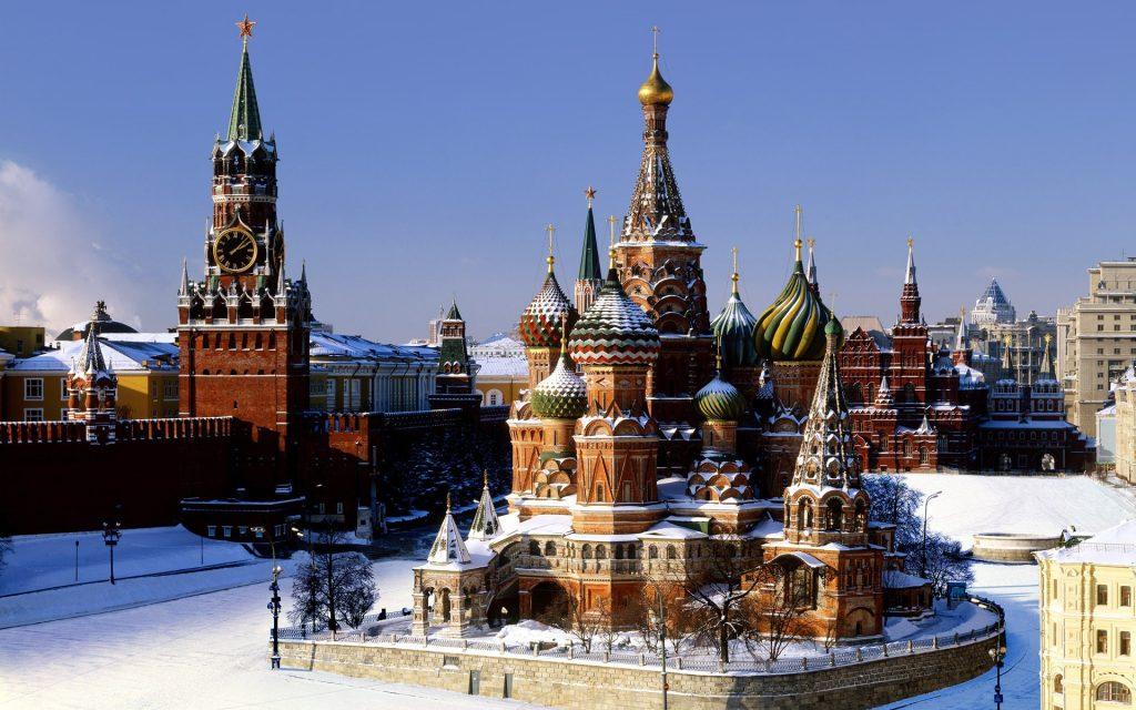 Великолепный вид на Кремль в Москве kreml2