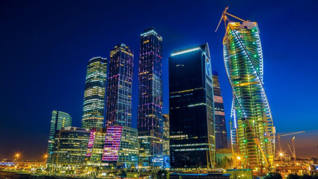 Москва-Сити в ночное время moskva-siti1