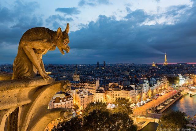 великолепный Париж с высоты птичьего полета
