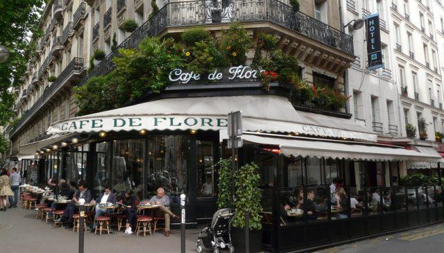 романтические кафе Парижа