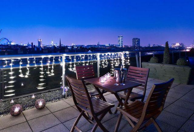великолепный вид на ночной Лондон