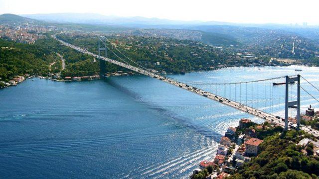 Стамбул вид на Босфор и мост