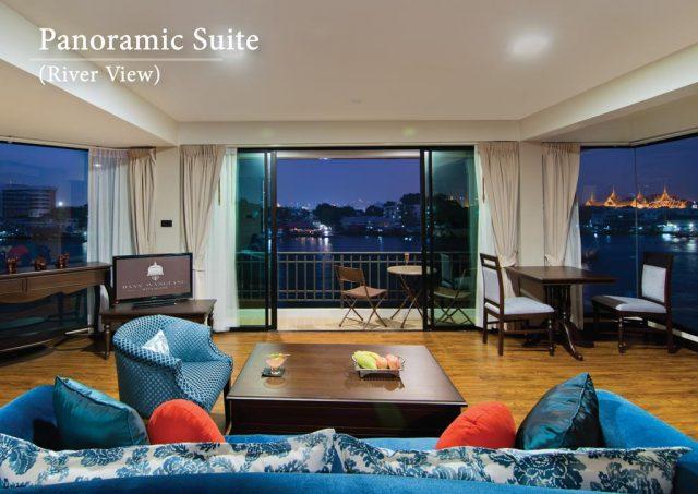 красивый панорамный вид из окна отеля на Большой Дворец в Бангкоке