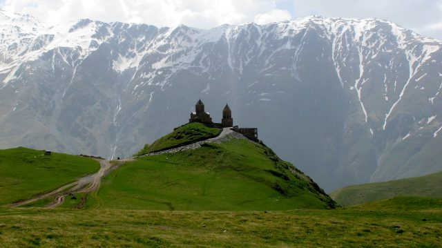 Красивый вид на горы в Грузии