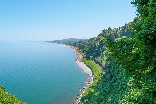 Красивый вид на море в Грузии