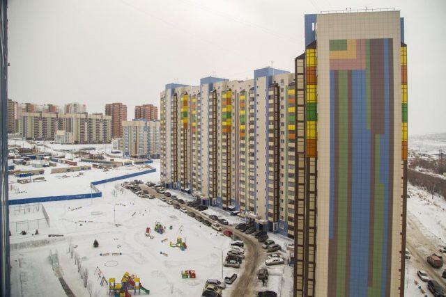 Красивый вид из апартаментов в Красноярске