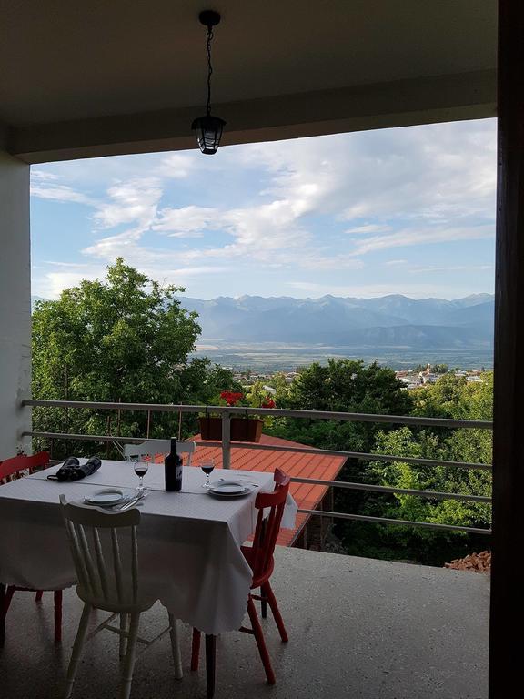 красивый вид на горы в Телави в Грузии