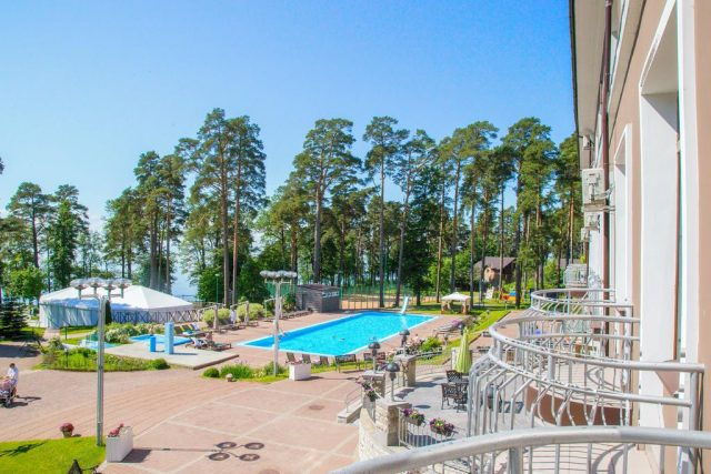 красивый вид из Президент отеля в Зеленогорске
