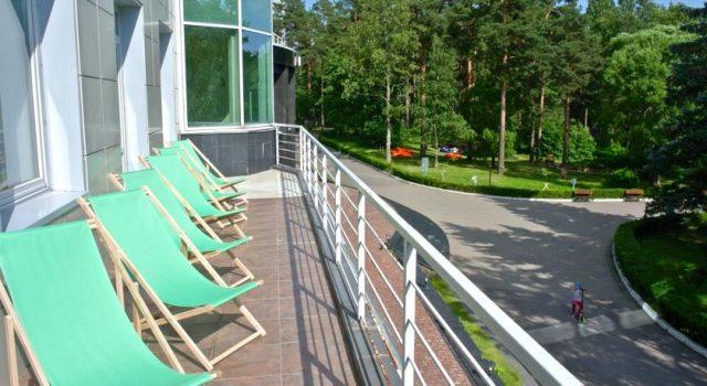 красивый вид из спа-отеля Аквамарин в Зеленогорске
