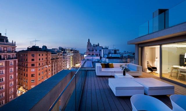 апартаменты с террасой с видом на Мадрид
