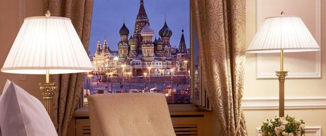 шикарный номер для молодоженов в отеле Балчуг Кемпенски