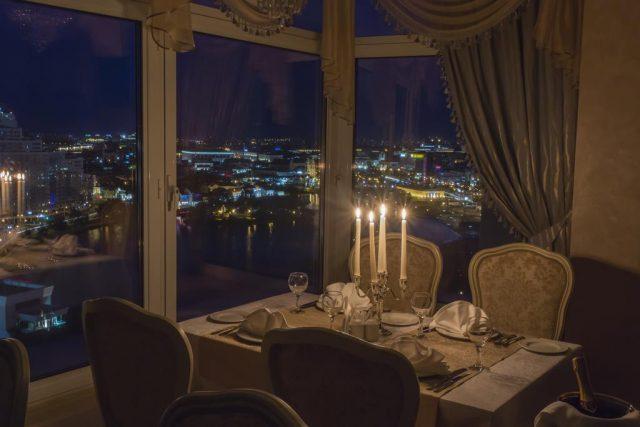 красивый вид на Минск из окон гостиницы Берасусь