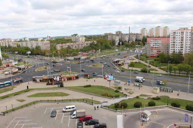 красивый вид из окон гостиницы Орбита на Минск