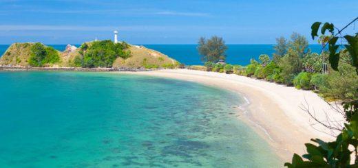 отели острова Ко Ланта Таиланд с красивым видом на море и пляж