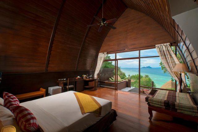 бунгало острова Пхи-Пхи Таиланд с красивым видом на море