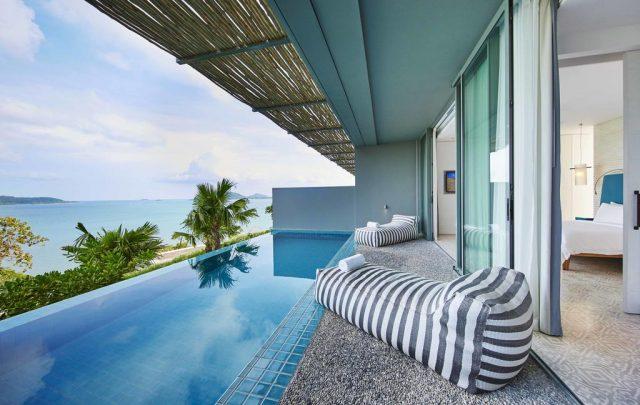 красивый вид на море из виллы в отеле на острове Пхукет