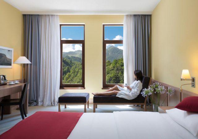 Отель в Красной Поляне Сочи с красивым видом на горы