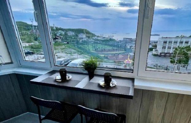 красивый вид на Владивосток с высокого этажа