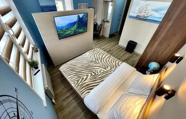 красивый вид с балкона апартаментов на Владивосток