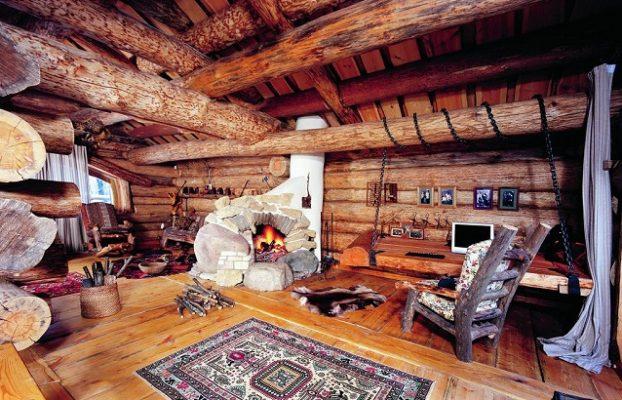 загородный дом с настоящим камином в Подмосковье
