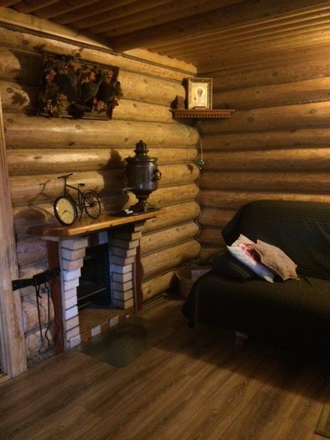 загородный дом с камином в Подмосковье