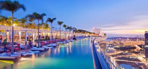 лучшие отели Сингапура с бассейном на крыше