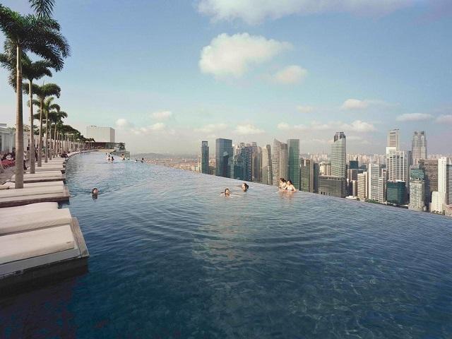 лучшие отели Сингапура с видовыми бассейнами на крыше