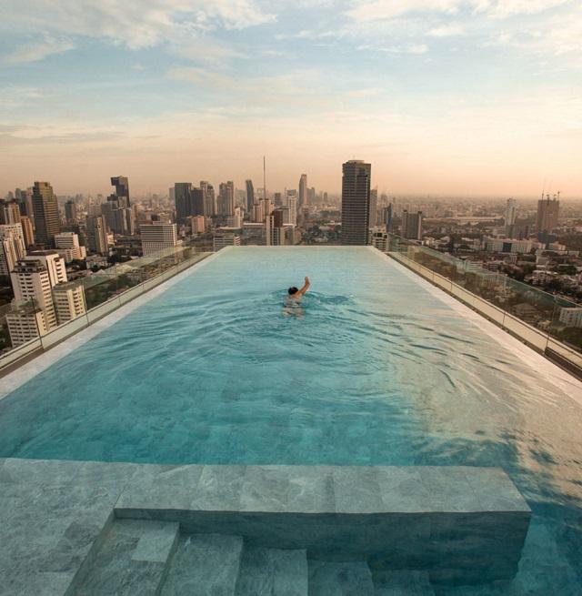 отели с бассейном на крыше в России