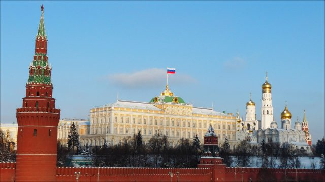 Прекрасный вид на Кремль в Москве kreml